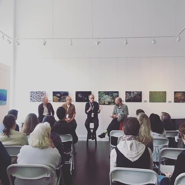 Panel Discussion 2 is underway at @gladegallery.! We have Brandon Chrostowski of Oscar nominated Short Knife Skills and Jordan Melamed from @futurespastmovie on the panel this morning talking about how their films developed beyond expectations. #inspirefilmfestival