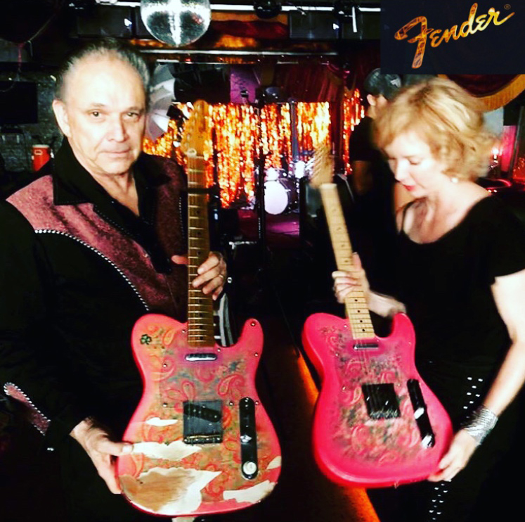 Sue Foley's new Fender endorsement! Thanks to Jimmie Vaughan for Pinky 2 and  Tom Bona for facilitating the new partnership !