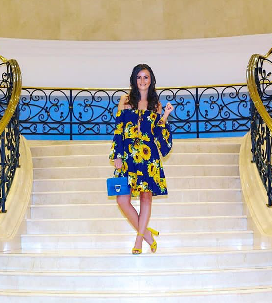International blogger Eniko Toth wearing our Model #2