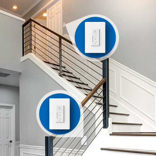 Convenient Access   Whether downstairs and upstairs, or on opposite sides of the hall, control your light from anywhere in your house, even from your smart phone.