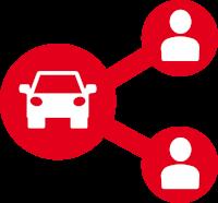 Het universeel logo autodelen - Is in verschillende bestandstypen beschikbaar
