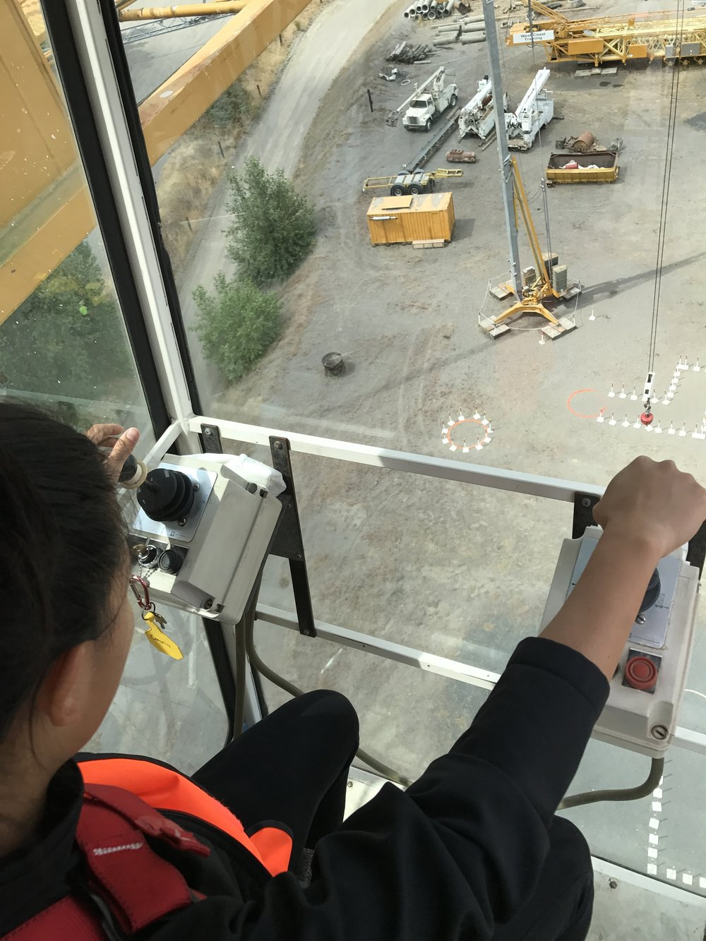 Yes, that is me operating the 100-foot crane. Watch out!