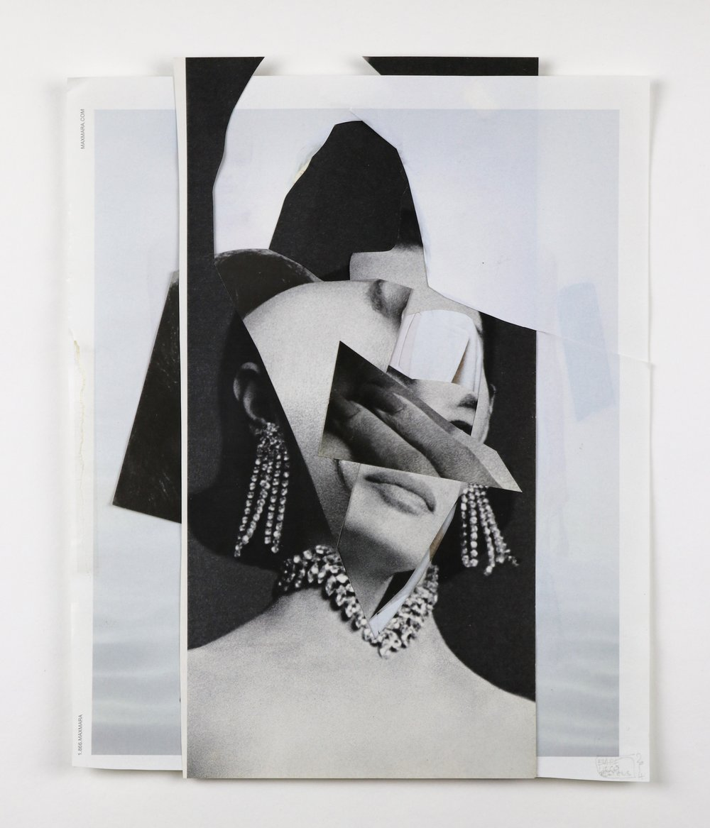 """repositioned beauty"", collage, found images, 10""x13"", 2014"