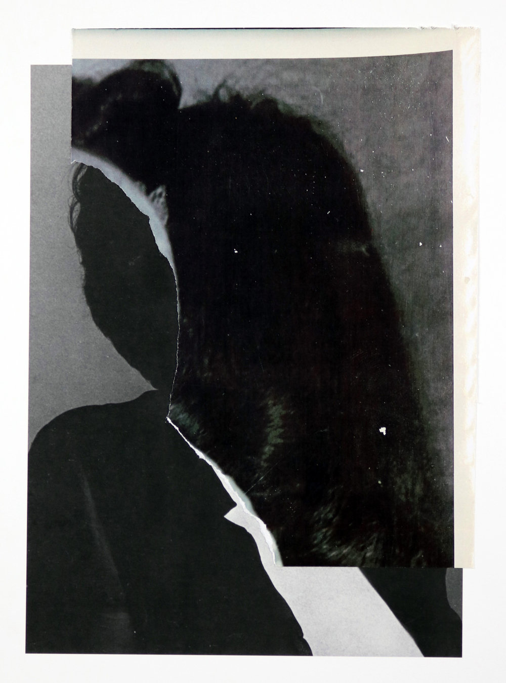 """the presence was clear"", collage, print, found images, 9.5""x12"",2015"