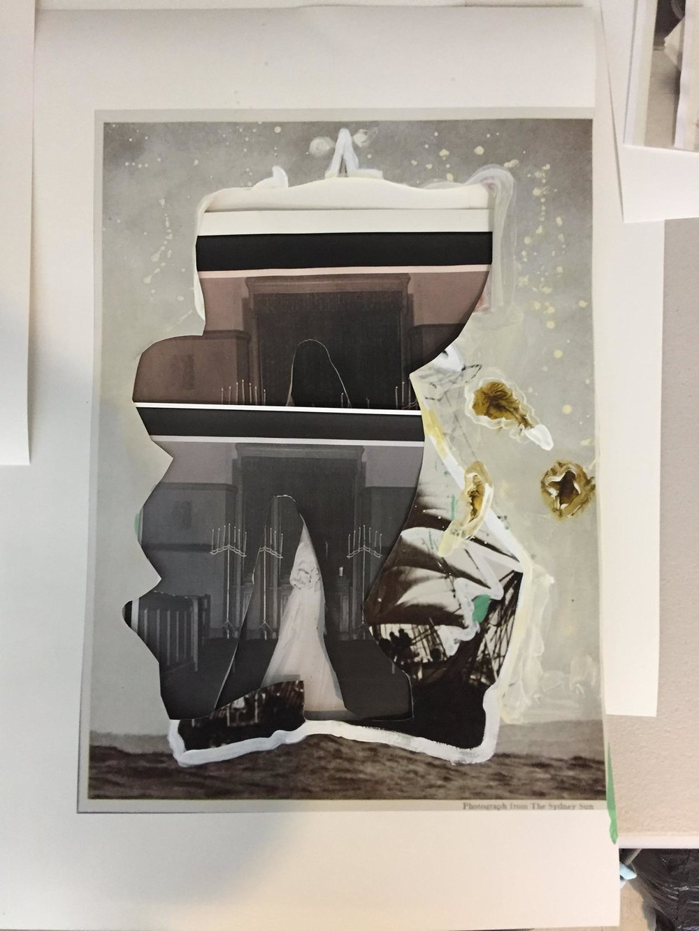 """Dismantled boat"", epson print from collage, 11""x 17"", 2016"