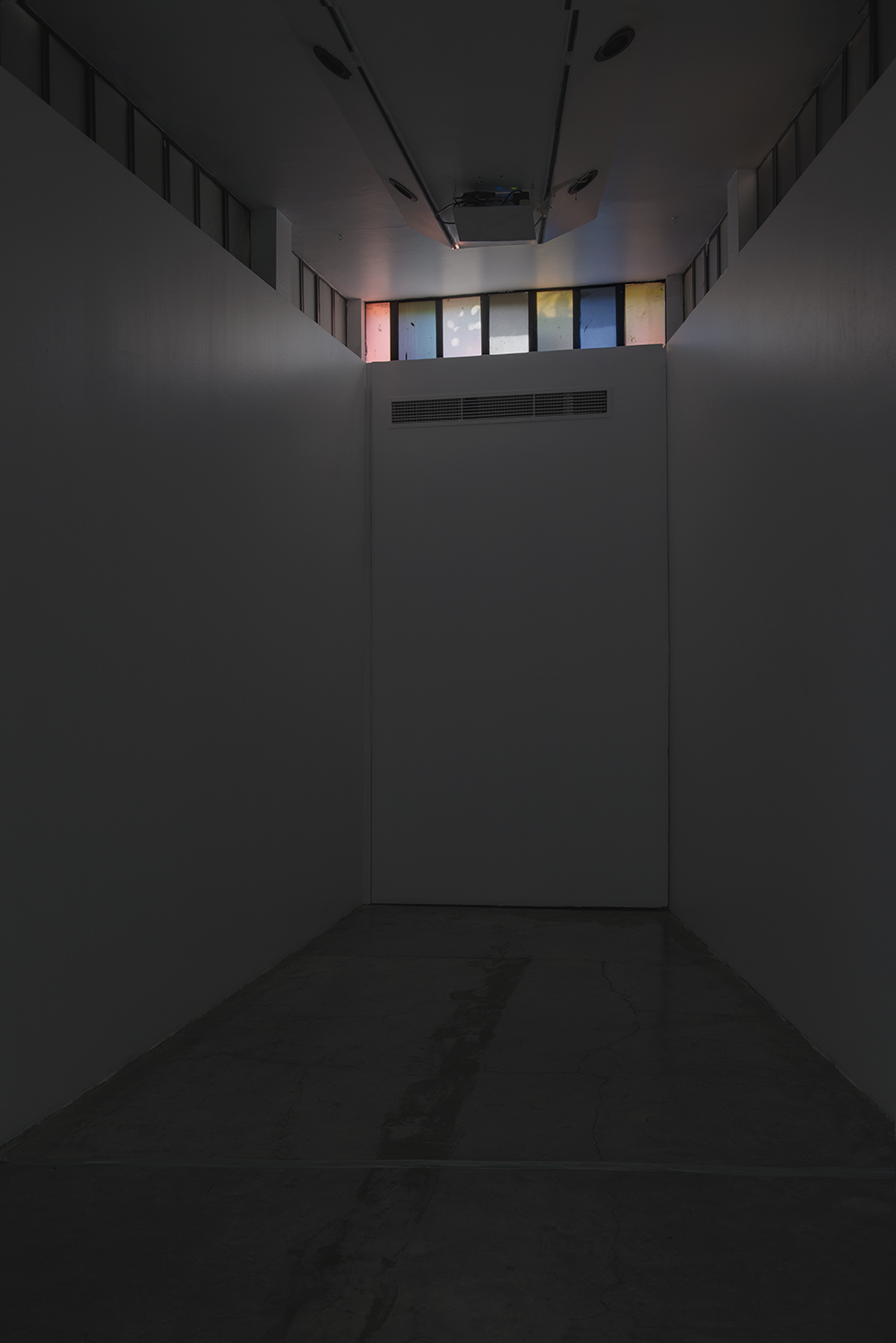 La terquedad de las cosas , 2015.  Site Specific Video installation at El Eco museum, Mexico City.