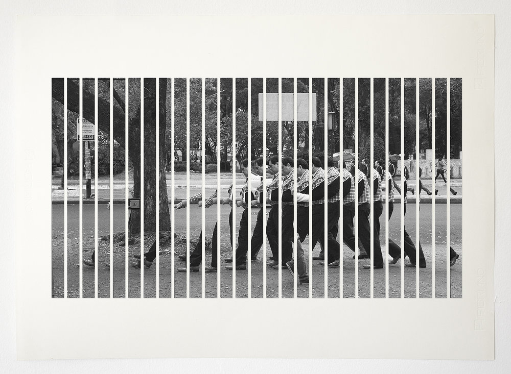 La terquedad, delay 13fps (Comp B2 ) , 2015  Archival InkJet cutouts on cotton paper  81 x 49.5 cm   Ed. 1 of 3 + PA
