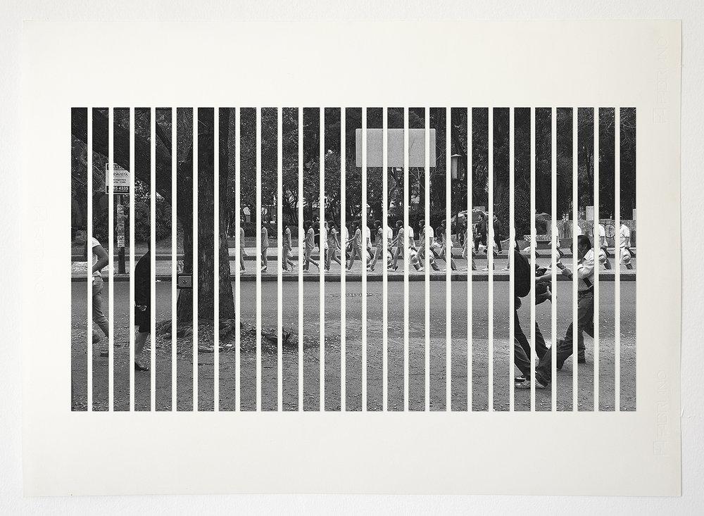 La terquedad, delay 29fps (Comp C ),  2015  Archival InkJet cutouts on cotton paper  81 x 49.5 cm  Ed. 1 of 3 + PA