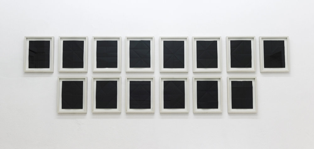 Correspondencias (internas) , 2012  Black bond paper  21.5 x 28 cm each