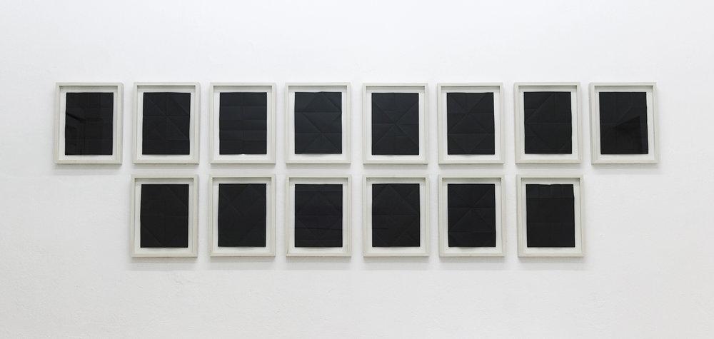 Correspondencias (internas) , 2012  Black bond paper  21.5 x 28 cm each