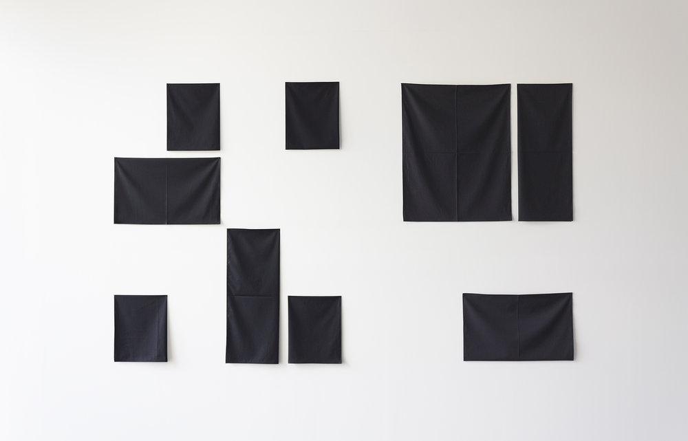 Plica ex plica,  2013  Cotton fabric  142 x 235 cm
