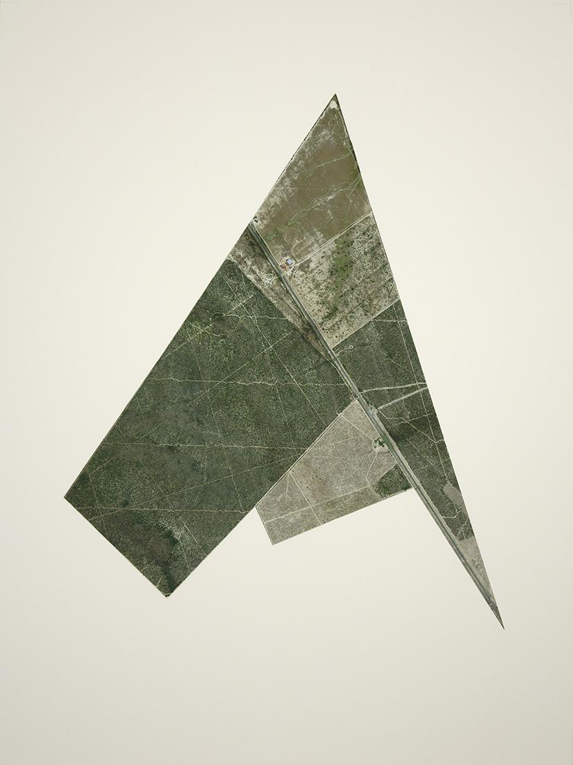 Recortes en el campo mexicano No. 5 , 2013  Cutout inkjet print on cotton paper  45 x 60 cm  Ed. 1 of 3 + PA