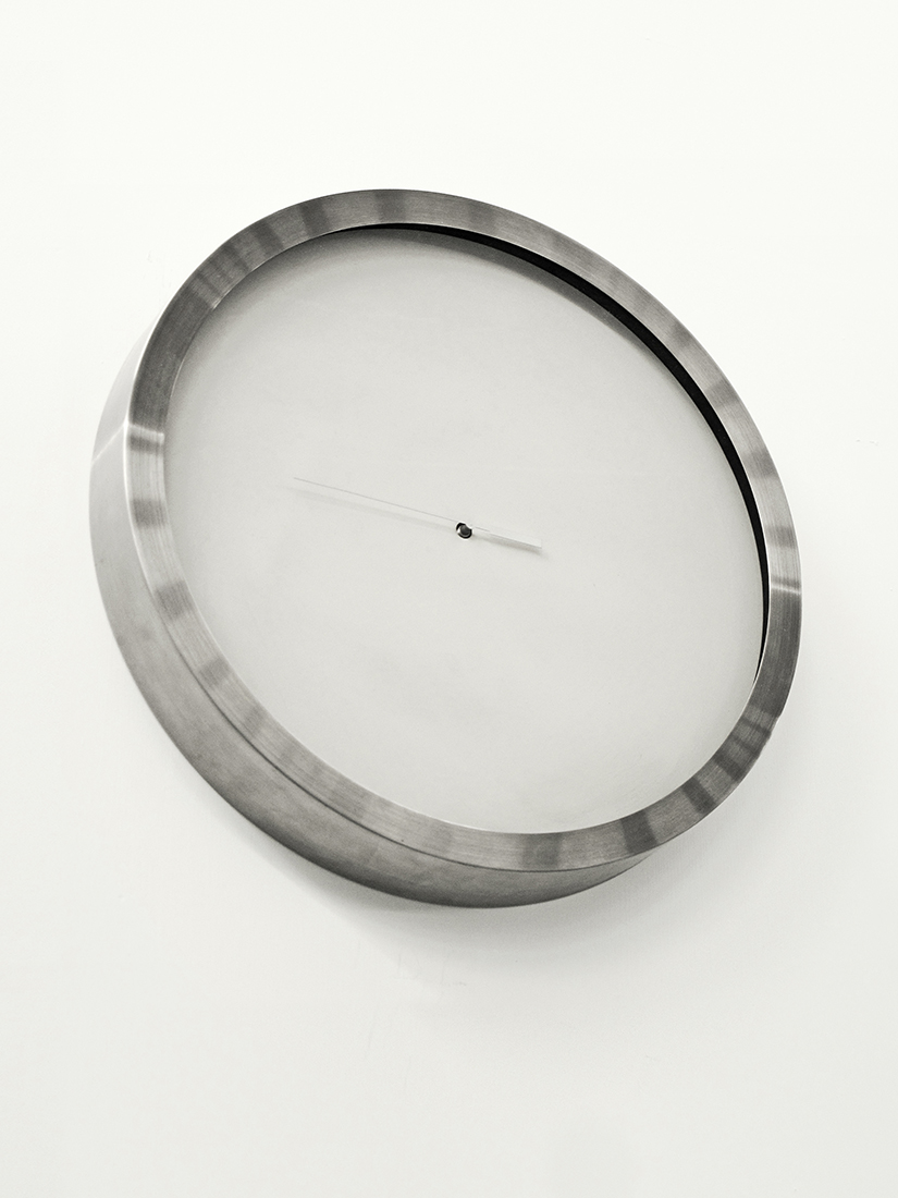 Son,  2007  Altered wall clock  44 x 44 x 8 cm