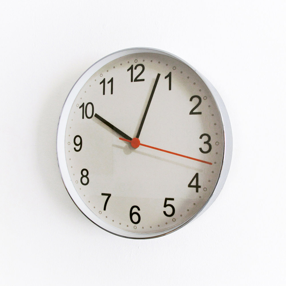 Photo,  2009  Digital C-print inside a wall clock case  27.5 x 27.5 x 4.5 cm  Ed. 1 of 4 + PA