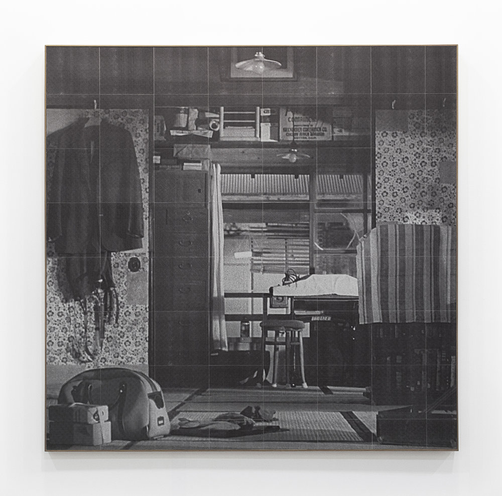 If I had known things would come to this , 2015.   Inkjet and fax prints collage.  136.5 x 135 cm.