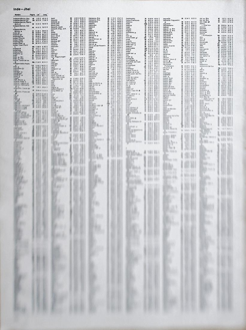 Topologies (Atlas) , 2011  Piezography  67 x 90 cm  Ed. 1 of 3 + PA