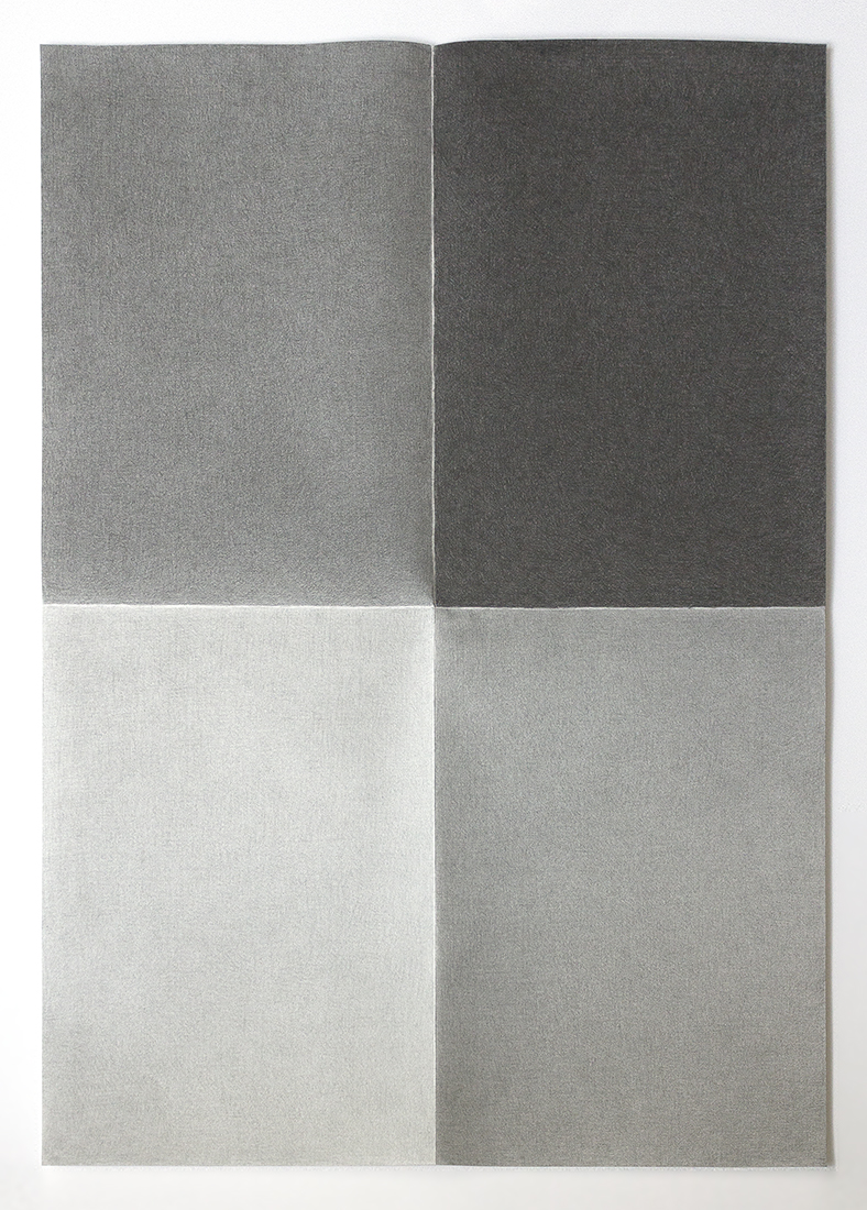 The daily walk , 2013  Graphite oncotton paper  70 x 100 cm
