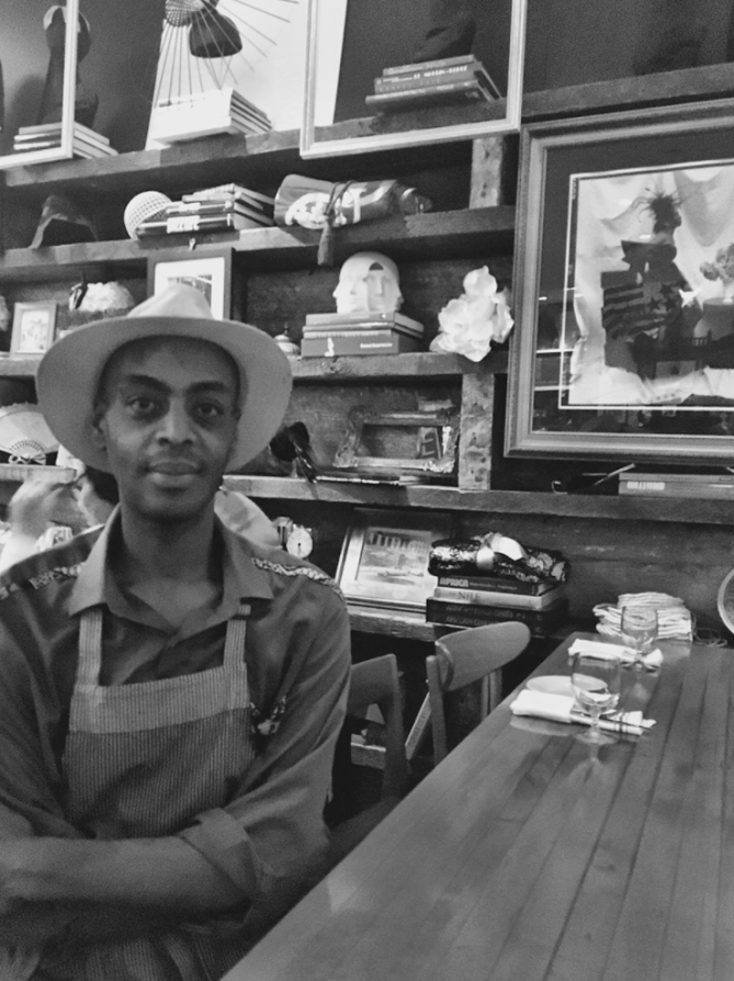 Wossen Tefera , Server at Red Rooster Harlem and Harlem resident of 3 years