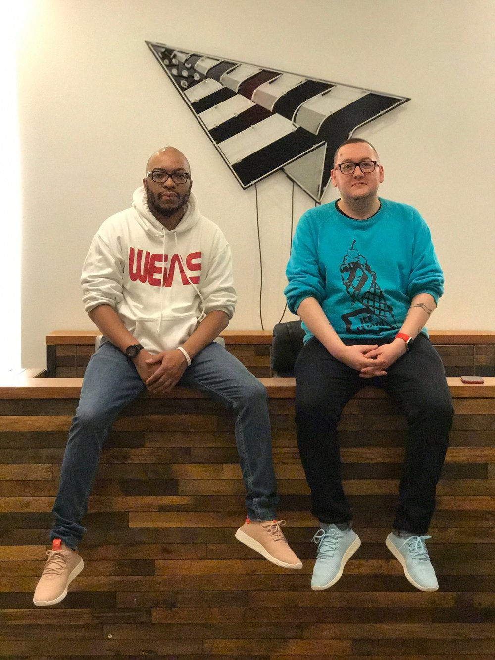 David and Steve @ Roc Nation / Tidal, NY.  Image by Evan Pierce