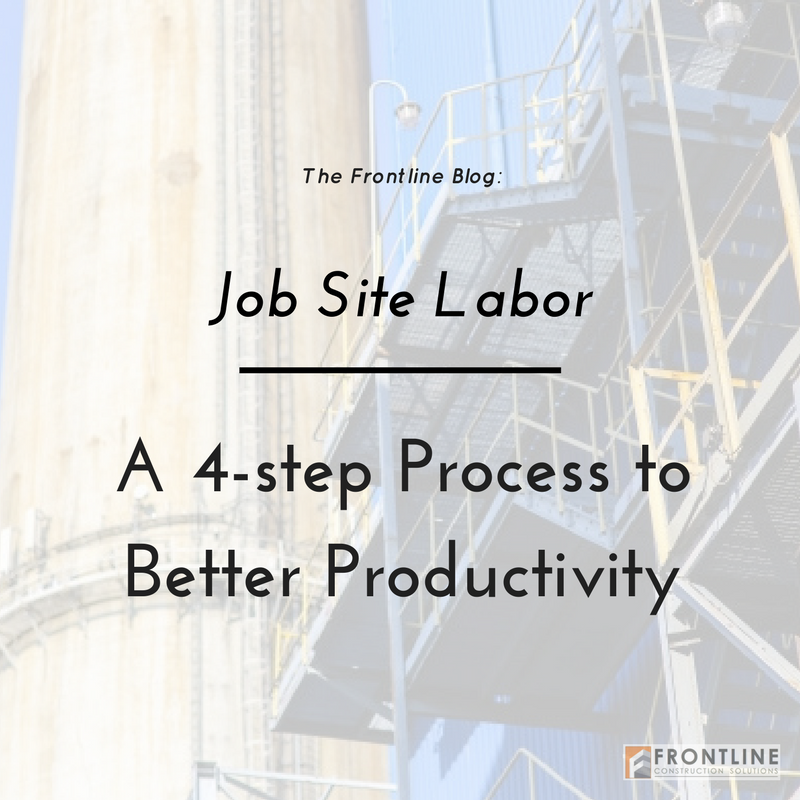 job site productivity; paying more attention and making a difference in efficiency