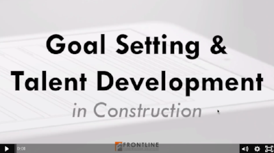 talent development in construction training mentoring goal setting