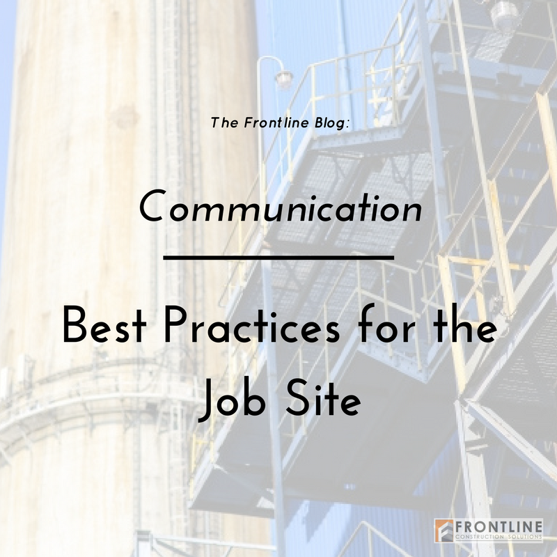 construction small business job site communication
