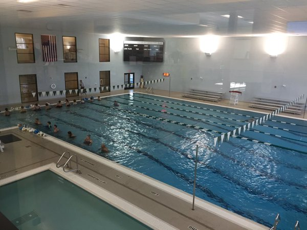 Aquatic facilities include a lap pool and a smaller, warmer teaching pool.