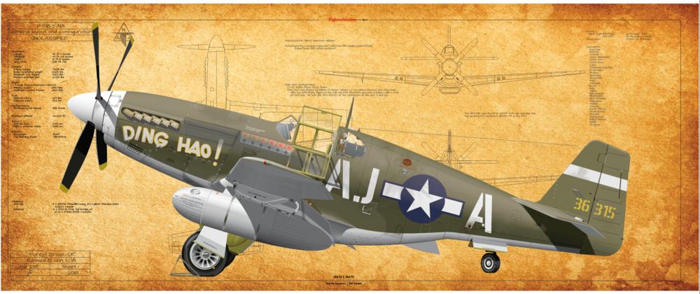 P-51B, 356 FS, 354 FG Ding Hao!