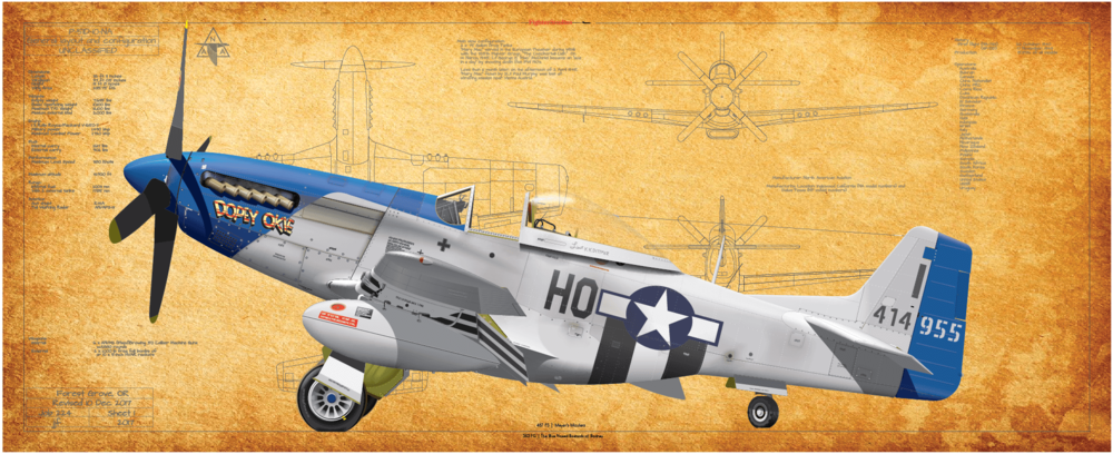 P-51, 487 FS, 452 FG Dopie Okie