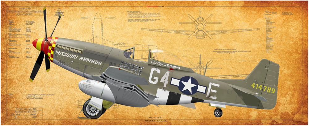 P-51, 457 FS, 362 FG Missouri Armada