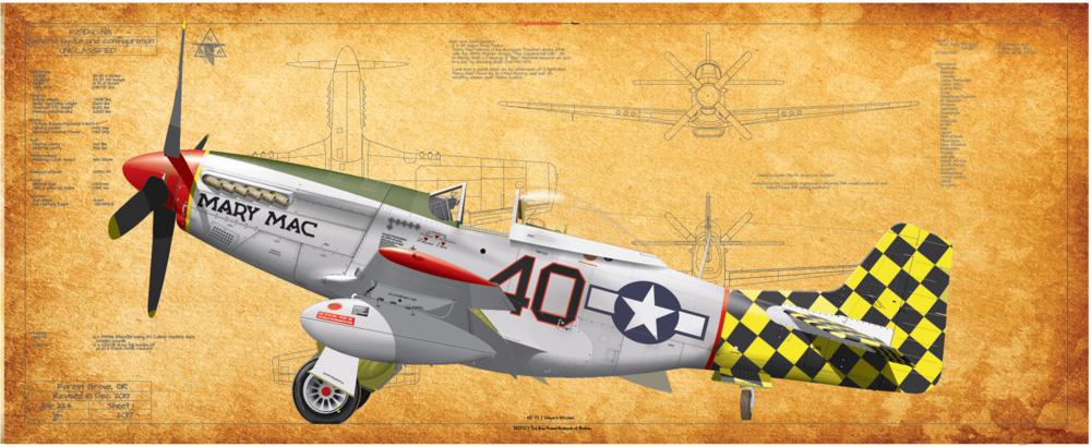 P-51D, 318 FS, 325 FG Mary Mac