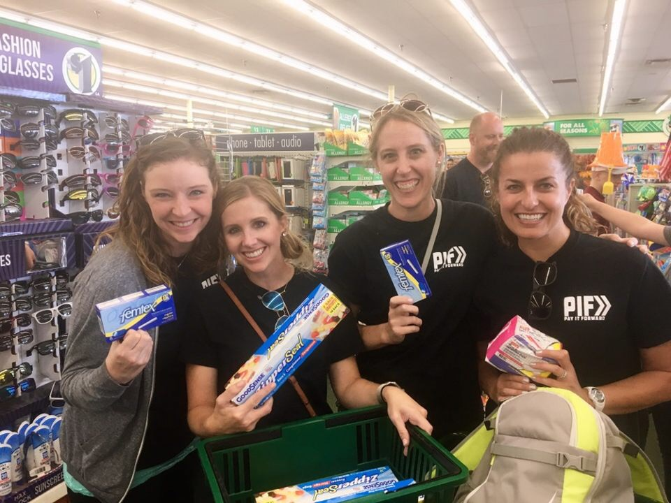 Purchasing items to build hygiene packs for our homeless neighbors.