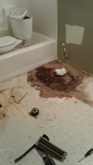 Bathroom Restoration Fire Water Damage Disaster Cleanup Magic - Bathroom water damage