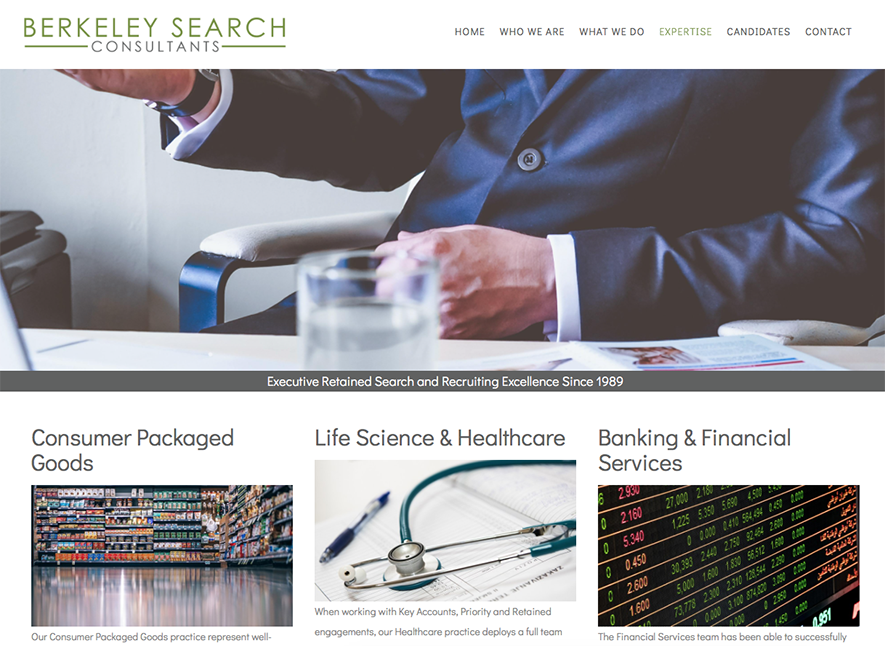 Berkeley Search Consultants, Berkeley: Website development