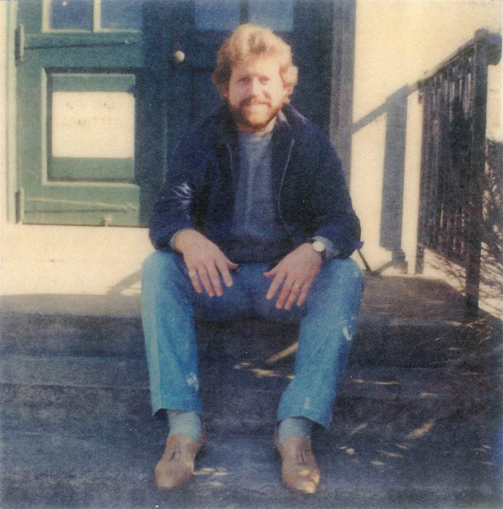 Jerry in the early 1980s, on the steps of Walpole Prison in Massachusetts. Courtesy of Gerald Tillinghast.