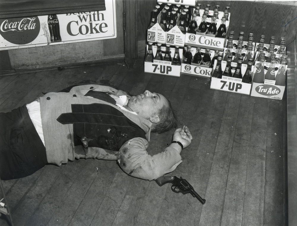 On April 20, 1968, Rudolph Marfeo was gunned down near the entrance of Pannone's Meat Market. He ran gambling activities on Federal Hill, the center of organized crime in Providence. According to police, he was killed because he refused to kick up a portion of the profits to Raymond Patriarca.  Providence Journal file photo.