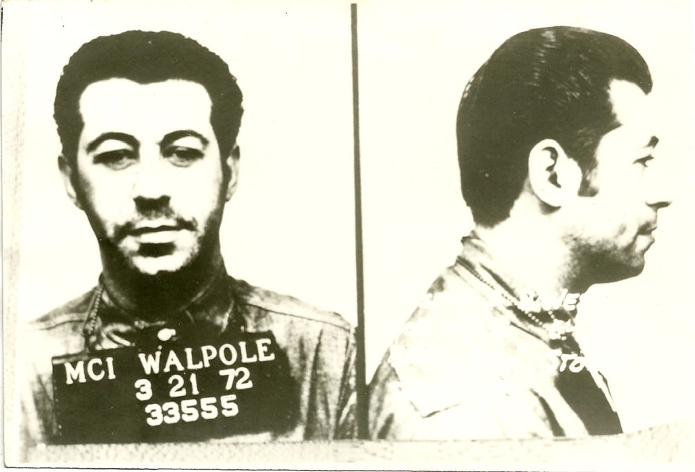 "A police mugshot of Joe ""The Dancer"" Danese taken at Wapole prison in Massachusetts. Courtesy of ""The Last Good Heist,"" Publisher Globe Pequot."