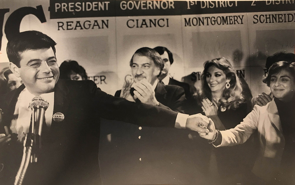 Buddy concedes defeat in the race for governor.  Courtesy of   the Providence Journal/Bryce Flynn.