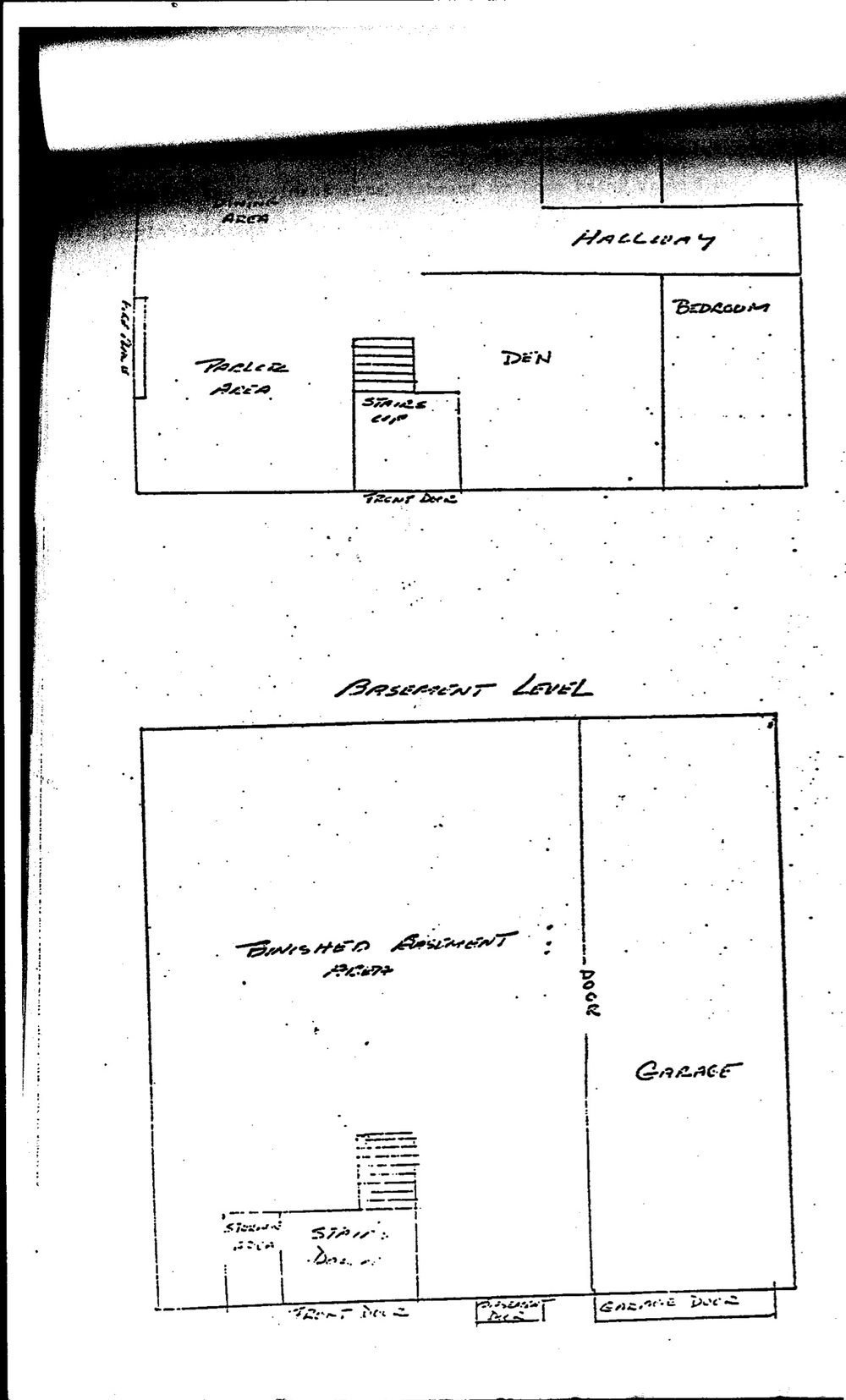 While devising a plan to break into Tony's home and plant hidden microphones, state police drew this map of the house. Courtesy of Brian Andrews.