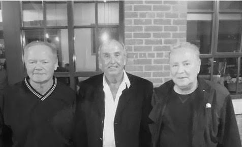 From left to right: Charles Kennedy, Brian Andrews and Tony Fiore meet for dinner in September 2014, a few years after Tony is released from his 20-year prison sentence. Courtesy of Brian Andrews.