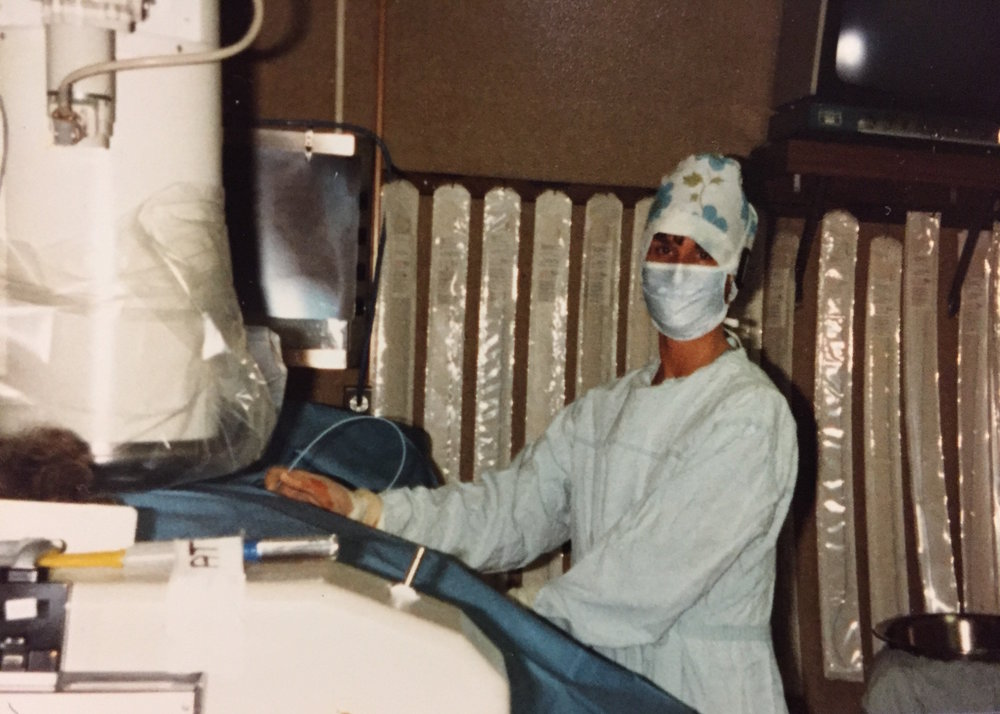 Dr. Roberts performs a cardiac catheterization. She was the first female cardiologist in Rhode Island, and is also the author of The Truth About Statins. Courtesy of Dr. Barbara Roberts.