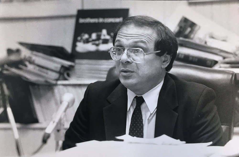 Raymond Patriarca's defense attorney Jack Cicilline in his office in 1983. Courtesy of The Providence Journal/Lawrence S. Millard.