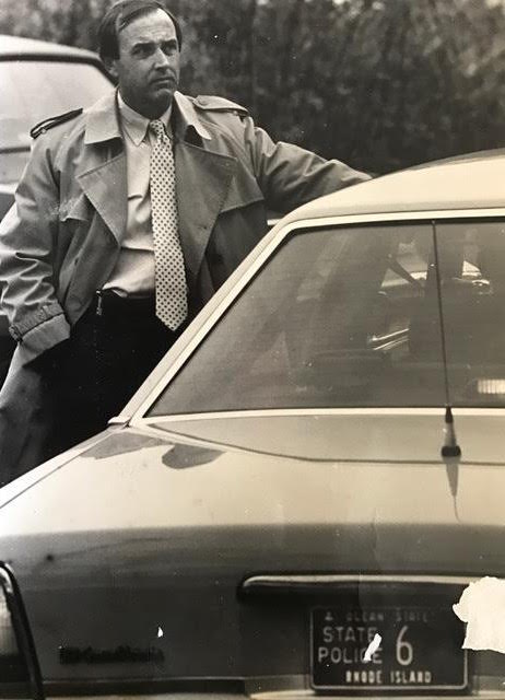 In 1990, Brian became the Detective Commander of the Rhode Island state police. Courtesy of Brian Andrews.