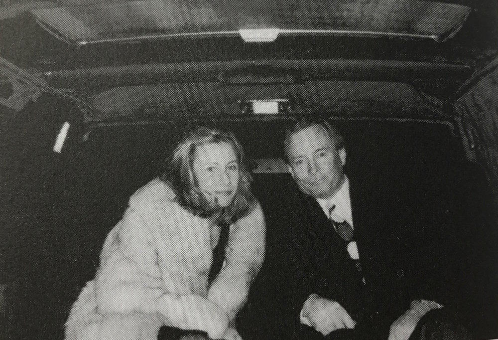 "Nicole and Gerard Ouimette in a limousine on their way to a father-daughter dance at Nicole's high school. In his memoir, Gerard wrote that when they arrived, they got out as if they ""were stepping onto the red carpet at the Academy Awards, and I escorted her in as if she was a movie star.""  Courtesy of Gerard Ouimette."