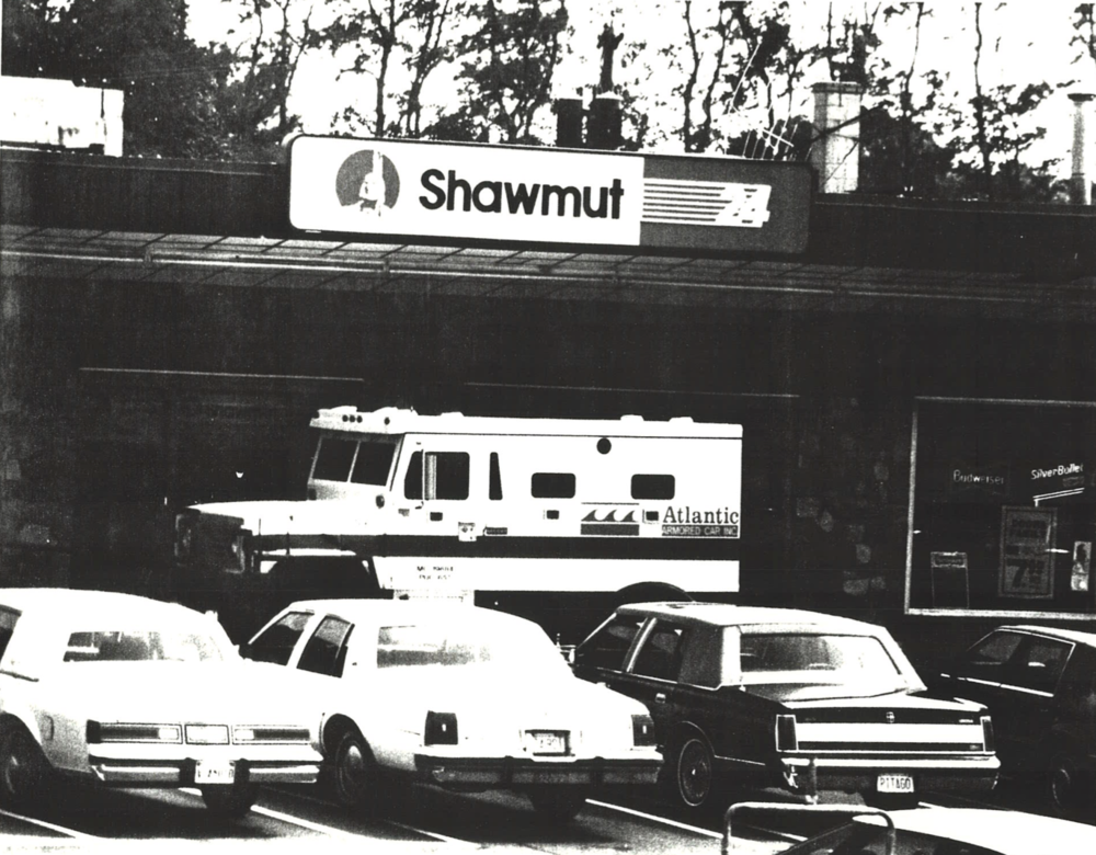 Ralph was a notorious armored-car robber. In 1991, he was arrested for the attempted heist of this armored truck outside a Shawmut bank in Newburyport, Massachusetts.  Courtesy of   Ralph DeMasi.