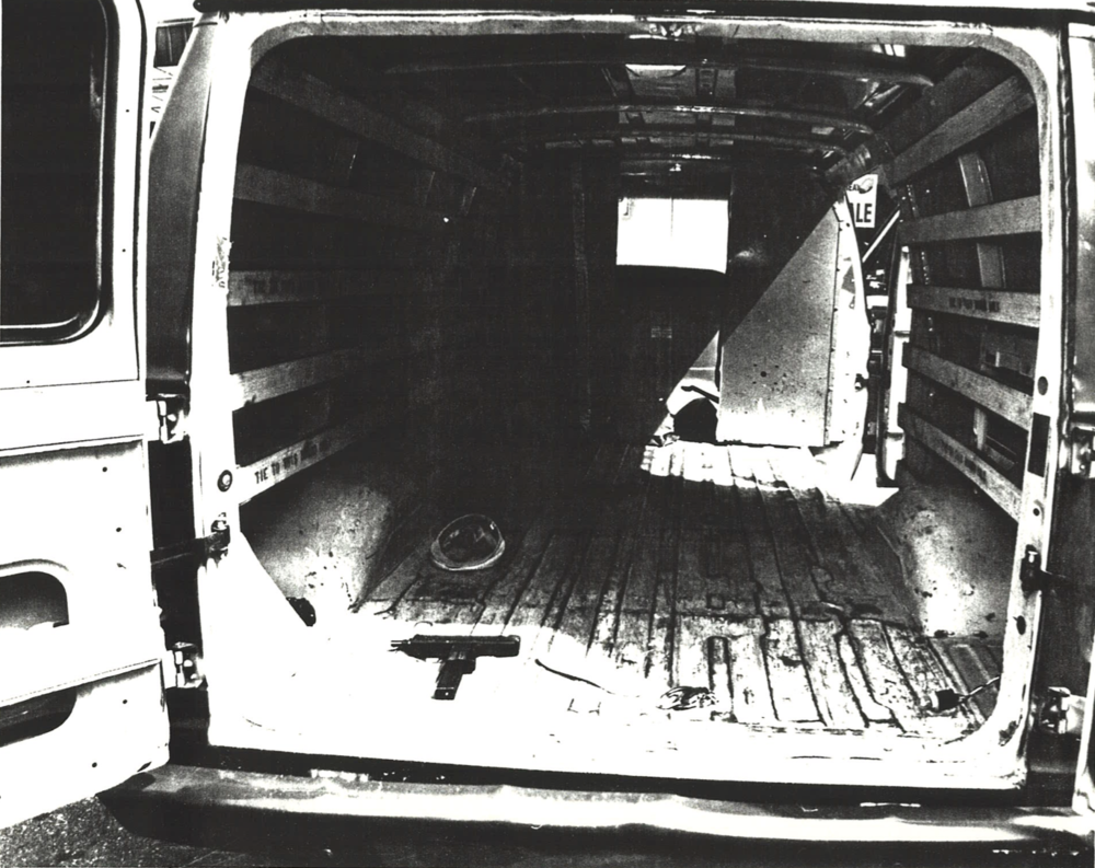 Law enforcement thwarted DeMasi and his co-conspirators before they attempted the Shawmut heist. Investigators found loaded weapons in the crew's van, including this Uzi.  Courtesy of Ralph DeMasi.