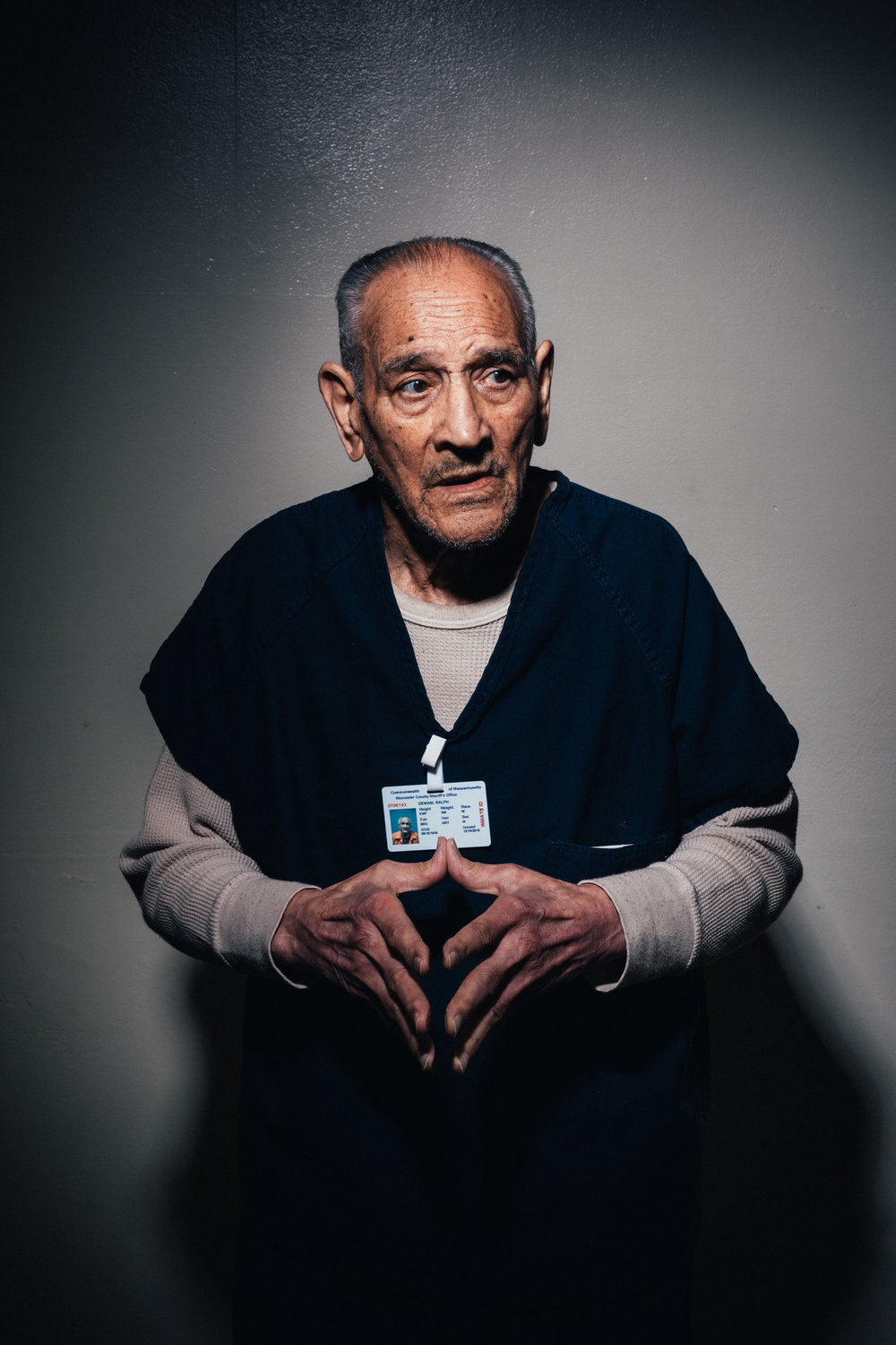 In 2016, 80-year-old Ralph DeMasi was arrested for the 1991 murder of Ed Morlock Sr. DeMasi is currently being held in Worcester County Jail, awaiting trial. Courtesy of The New York Times/Andrew White.