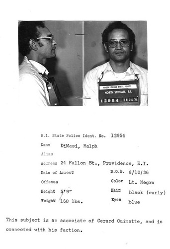 Ralph DeMasi was part of Gerard Ouimette's crew, a faction of the Patriarca crime family. Courtesy of The Providence Journal.