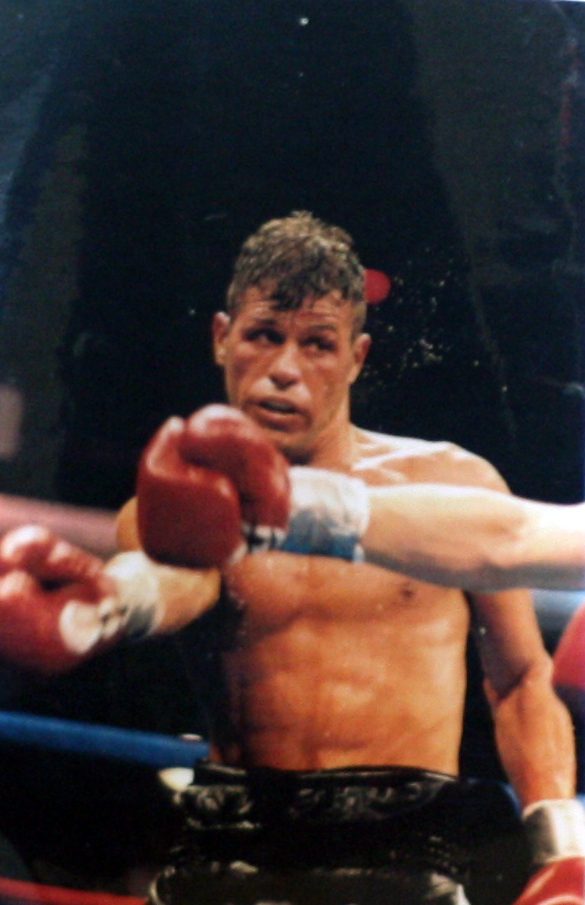 Jarrod made his professional debut on June 22, 1996 at Suffolk Downs in Boston. He knocked out Robert Jones in the first round.  Courtesy of Jerry Tillinghast.
