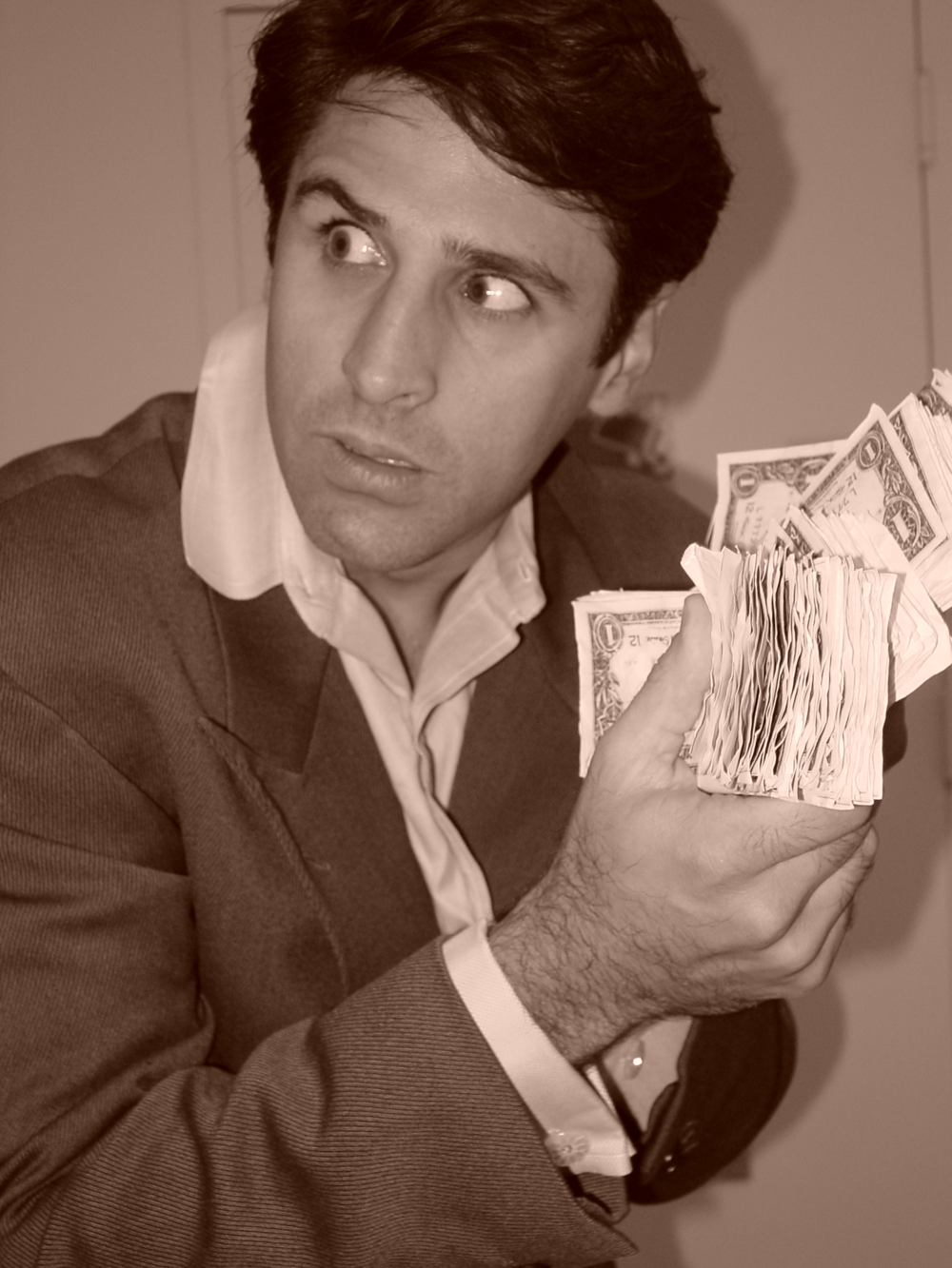 The musical's ten actors performed a number of roles, including David Ead, the tax assessor who was caught laundering money in the Plunder Dome case.Courtesy of Jonathan Van Gieson.